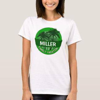Green palm tree customizable family vacation tee