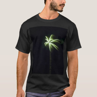Green Palm Tree Fireworks T-Shirt
