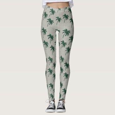 Green Palm Tree Leggings