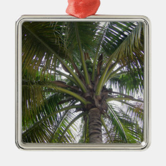 green palm tree metal ornament