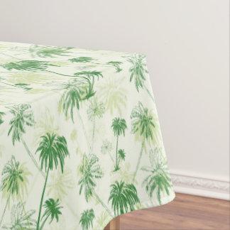 Green Palm Tree Pattern Tablecloth