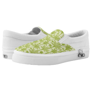 Green Palm Trees Pattern Printed Shoes