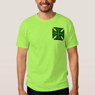 Green Palmetto Tree Iron Cross T Shirt