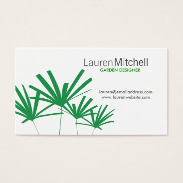 Professional Business GREEN PALMS Business Card