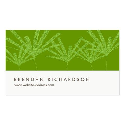 GREEN PALMS IV Business Card Design