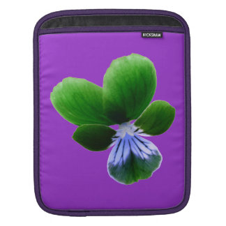 Green Pansy IPad Sleeve