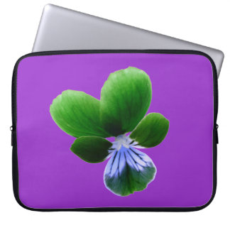 Green Pansy Laptop Bag
