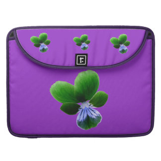 Green Pansy MacBook Pro Sleeve