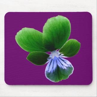 Green Pansy Mousepad