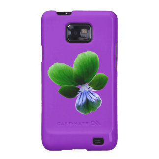 Green Pansy Samsung Galaxy S Case Samsung Galaxy S2 Cover