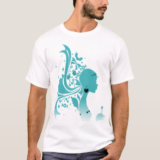 Green Paper-cut Lady T-Shirt