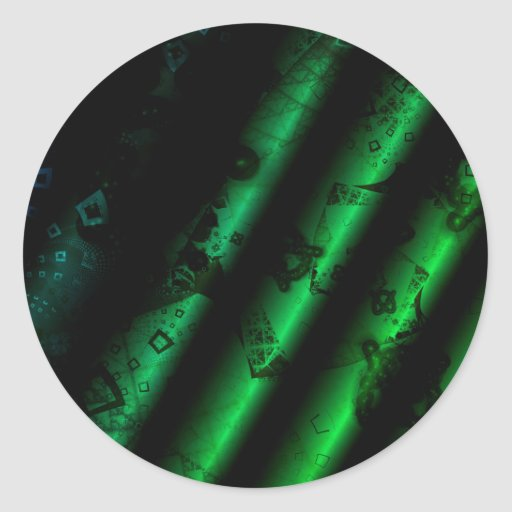green PAPERs reels Round Stickers