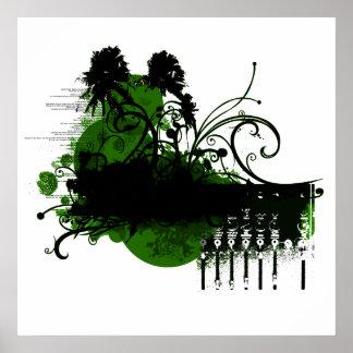 green paradise print