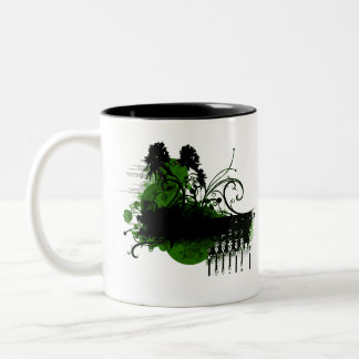 green paradise Two-Tone coffee mug