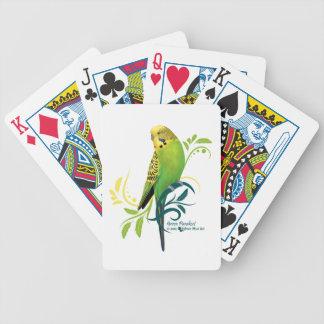 Green Parakeet Bicycle Playing Cards