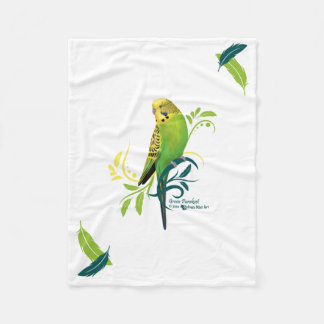 Green Parakeet Fleece Blanket