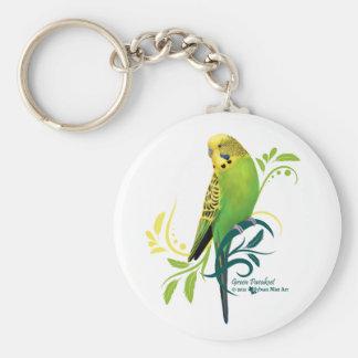 Green Parakeet Keychain