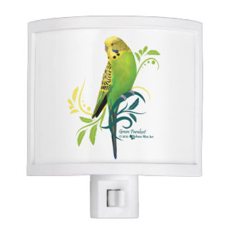 Green Parakeet Night Light