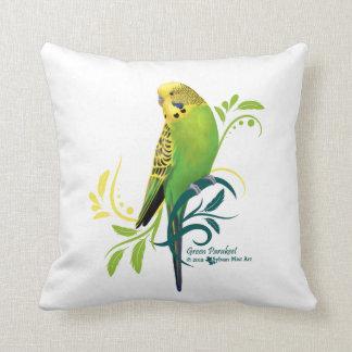 Green Parakeet Pillow