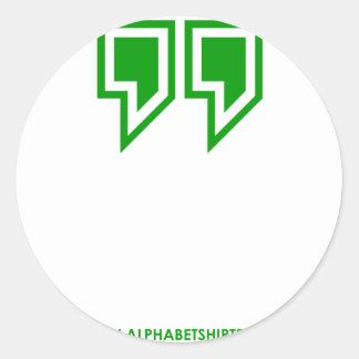 Green Parenthesis Classic Round Sticker
