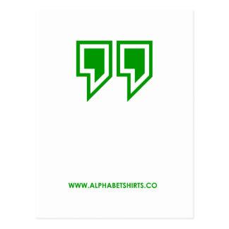 Green Parenthesis Postcard
