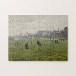 Green Park in London Monet Fine Art Jigsaw Puzzle