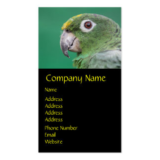 Green Parrot Double-Sided Standard Business Cards (Pack Of 100)