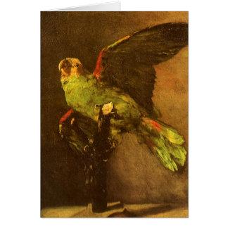 Green Parrot by Vincent van Gogh, Vintage Fine Art Card