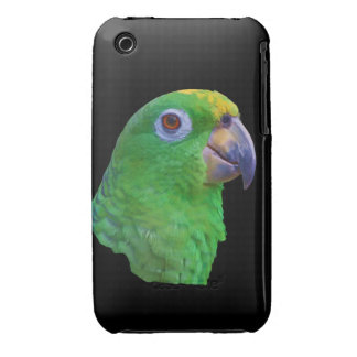 Green Parrot Case-Mate iPhone 3 Case