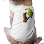 Green Parrot Dog Tee Shirt