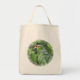 Green Parrot Grocery Tote Bag