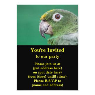 Green Parrot Invite