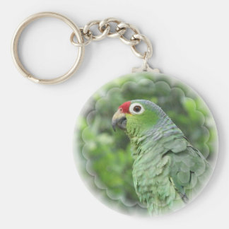 Green Parrot Keychain