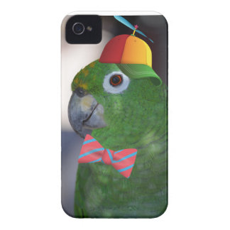 green parrot kid friendly Case-Mate iPhone 4 case