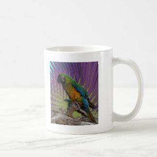 Green Parrot & Palms mug
