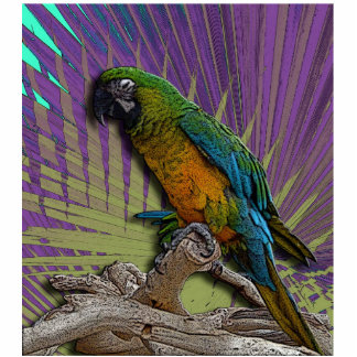 Green Parrot Photo Sculpture