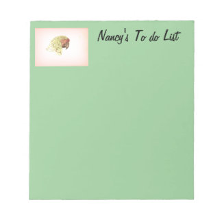 Green Parrot To do List Note Pads