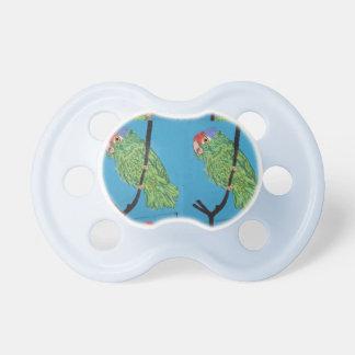 green parrots baby pacifier