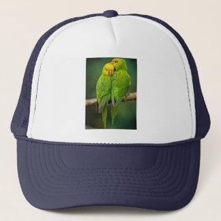 Green Parrots Love Birds Photography Trucker Hat