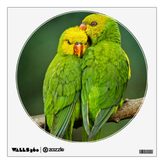 Green Parrots Love Birds Photography Wall Decal