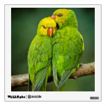 Green Parrots Love Birds Photography Wall Sticker