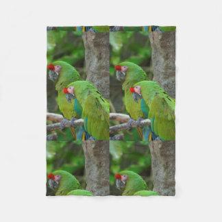 Green Parrots Manta De Forro Polar