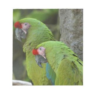 Green Parrots Notepad