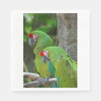 Green Parrots Servilletas De Papel