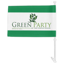 Green Party Car Flag with Old Logo