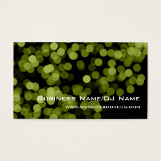 Green Party Lights (Music or DJ) Business Cards