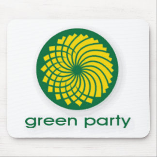 GREEN PARTY MOUSE PAD