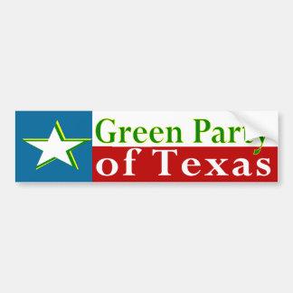 Green Party of Texas Bumper Sticker Car Bumper Sticker