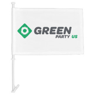 Green Party of the United States Car Flag
