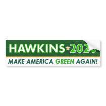 Green Party President Hawkins 2020 Bumper Sticker